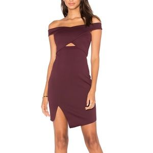 BEC & BRIDGE off the shoulder cocktail dress